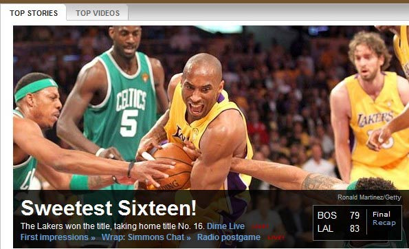 ESPN-甜蜜第16冠