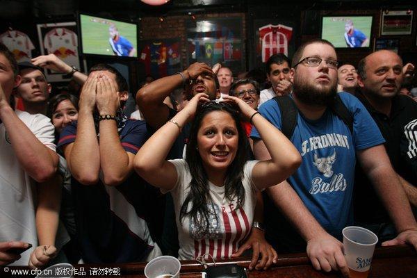 纽约女球迷兴奋