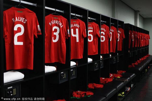 葡萄牙红色球衣