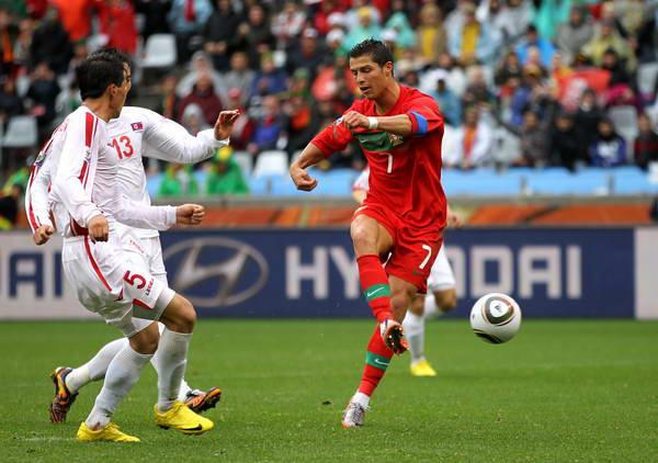 普敦,2010世界杯小组赛G组次轮,葡萄牙7-0朝鲜.C罗进球全角度