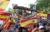 幻灯:西班牙队完胜对手 马德里球迷挥舞斗牛旗