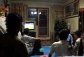 幻灯:朝鲜电视台首次直播世界杯 民众在家观看
