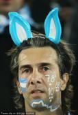 """高清图:山寨巴蒂变""""兔儿爷"""" 婴儿也爱阿根廷"""