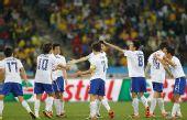 图文:尼日利亚2-2韩国 韩国队员集体疯狂庆祝