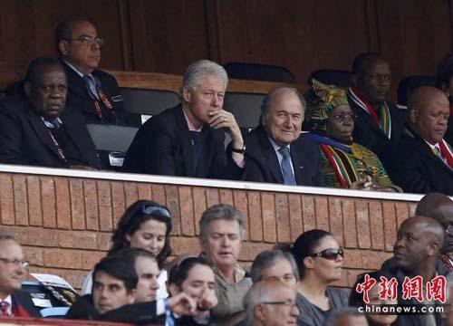美国前总统克林顿到场观战
