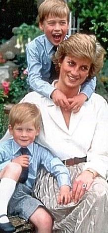 戴安娜王妃和两个儿子-英王子坦露心声 我们无时无刻不在想念母亲