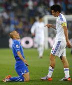 幻灯:意大利2-3负斯洛伐克精选 卡纳瓦罗下跪