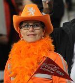 幻灯:荷兰球迷激情呐喊助威 看台掀起橙色风暴