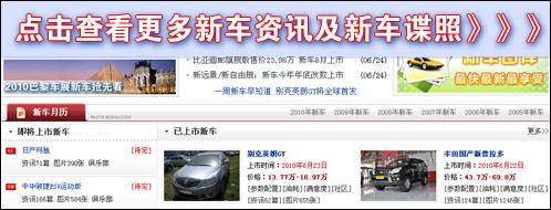 搜狐汽车新车栏目