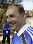 幻灯:斯洛伐克队召开发布会 教练与队员乐开花