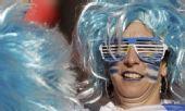 图文:淘汰赛乌拉圭VS韩国 乌拉圭球迷