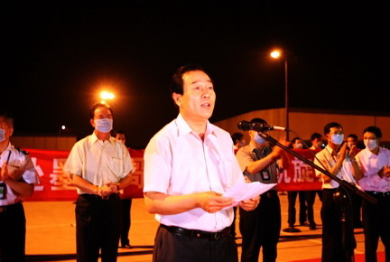资料图:民航中南管理局局长刘亚军。