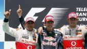 图文:2010年F1欧洲站正赛 英格兰为德国护航