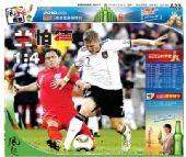 图文:媒体评德国4-1英格兰 海峡都市报