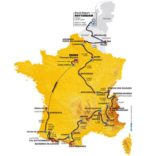 2010年环法赛程图