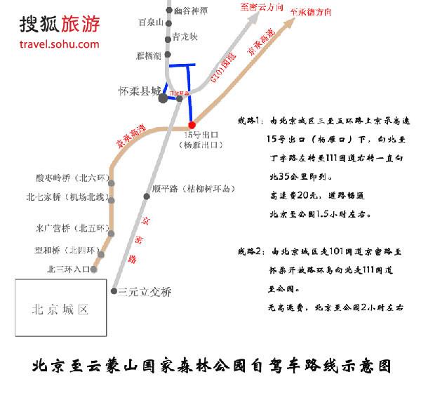 自驾线路图(可保存图片打印)