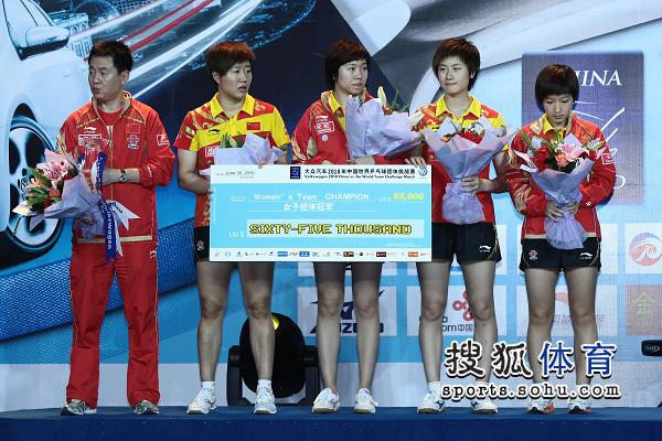 中国队获6.5万美元奖金