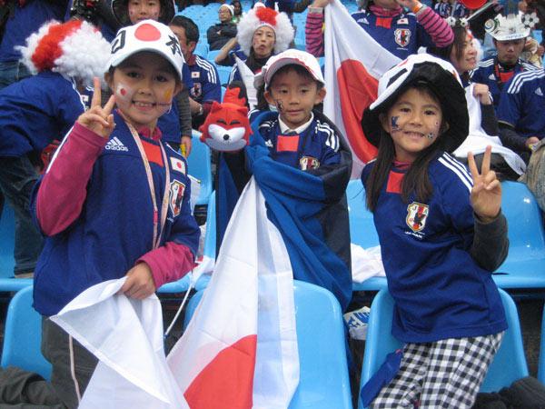 幻灯:巴拉圭vs日本赛前球迷