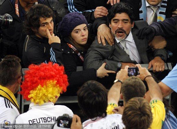 幻灯:阿根廷惨遭淘汰 老马赛后与德国球迷发生冲突