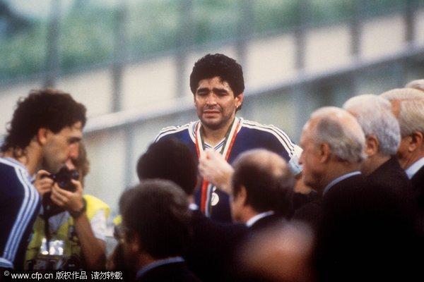 1990年马拉多纳痛哭