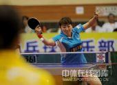 图文:乒超女团北京4-1江苏 王璇反手进攻
