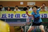 图文:乒超女团北京4-1江苏 王璇回球瞬间