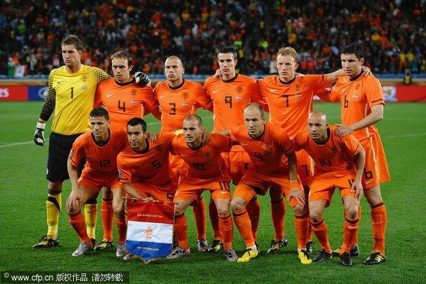 荷兰队合影