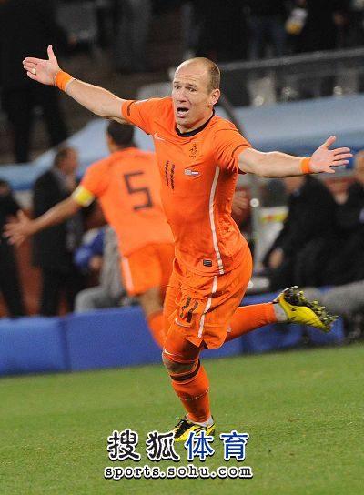 图文:荷兰队胜乌拉圭进决赛 罗本进球