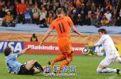 图文:荷兰队胜乌拉圭进决赛 罗本错失进球