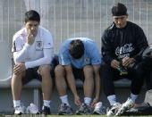 幻灯:乌拉圭训练备战3、4名决赛 队员心不在焉