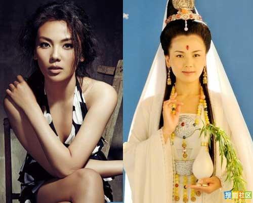 刘涛的观音剧照对比图(右)