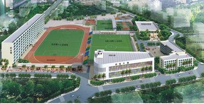 燕子岗体育场改建规划鸟瞰图