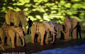 幻灯:南非世界杯闭幕式流光溢彩 非洲大象抢镜