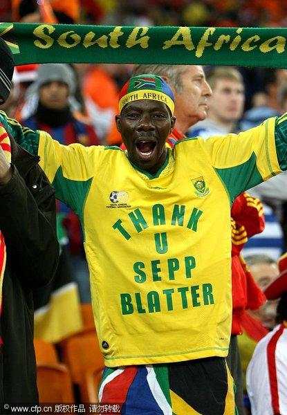 闭幕式盛大举行 球迷标语称赞南非世界杯