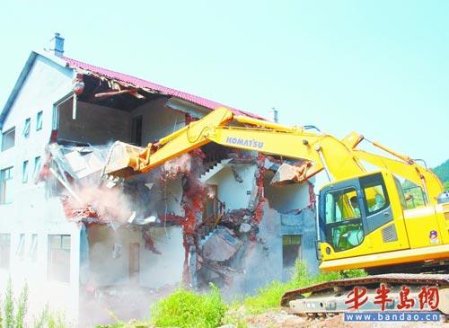 违建筑被拆。