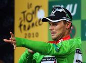 图文:环法第10赛段图集 胡舒福德穿上绿衫