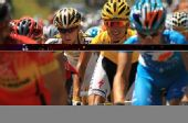 图文:环法第10赛段图集 自行车手正在爬坡