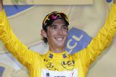 图文:环法第十赛段 施莱克身穿黄色领骑衫