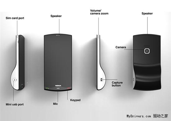 不倒翁设计 诺基亚超酷动力学概念手机