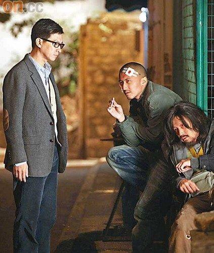 张家辉、谢霆锋与廖启智在戏中大斗演技