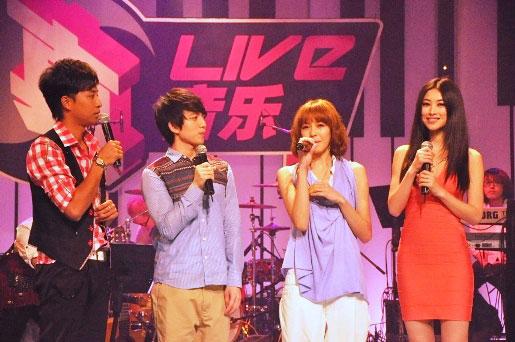 林宥嘉和Olivia在真Live真音乐现场