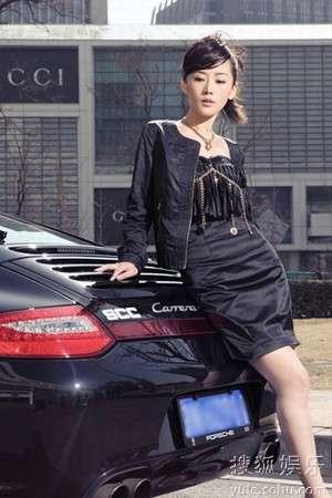 车永莉黑裙大气
