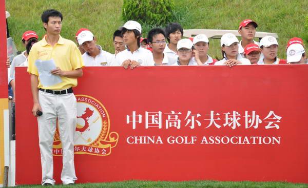 图文:亚运选拔赛第4场首轮 第四轮开球仪式