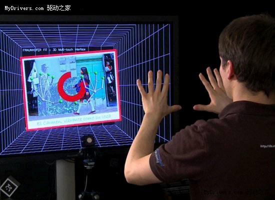 强悍手势操控3D空间演示