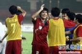 图文:[中超]河南1-0杭州 建业替补席庆祝