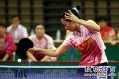 图文:[乒超]山东女团3-1八一 彭陆洋在比赛中