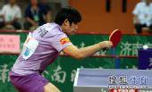 图文:[乒超]山东女团3-1八一 曹臻在比赛中