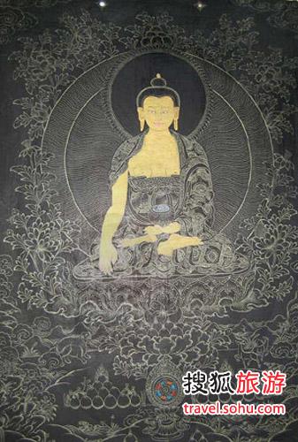 黑唐卡 藏传佛教的庄严法器
