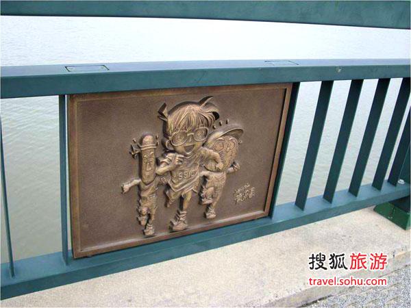 柯南/桥栏杆上的柯南造型