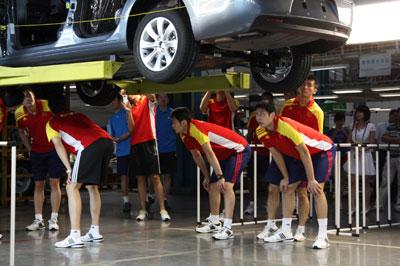 东风雪铁龙   车型的生产过程.   东风雪铁龙   为比赛的组高清图片